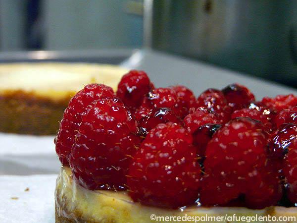 Receta Tartaleta de Queso y Frambuesas