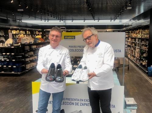 Andoni Luis Aduriz, Arzak, Íñigo Lavado, Nacho Echapresto y Ramón Roteta dan nombre a la colección de calzado de hostelería Robusta