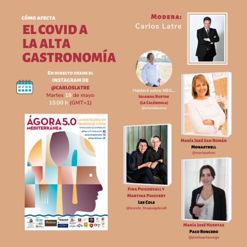 La versión online de Ágora Mediterránea adaptado a la hostelería en tiempos de COVID- y organizado por Mujeres en Gastronomía