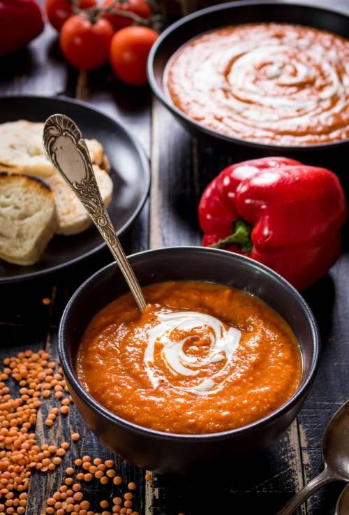 Sopa de Verano: Tomate Frito Pimiento y Calabaza