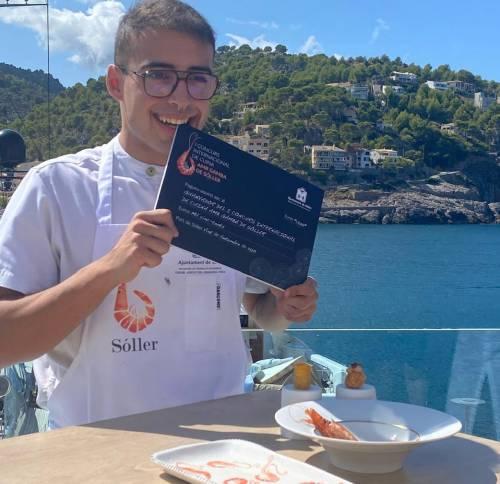 Raul Linares ganador del I concurso de la Gamba de Soller de Mallorca