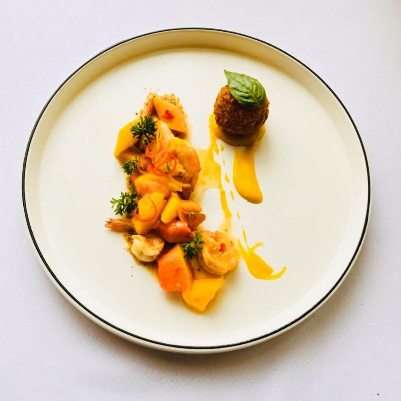 Receta Ensalada Papaya Francesa Mango Bolas Arroz