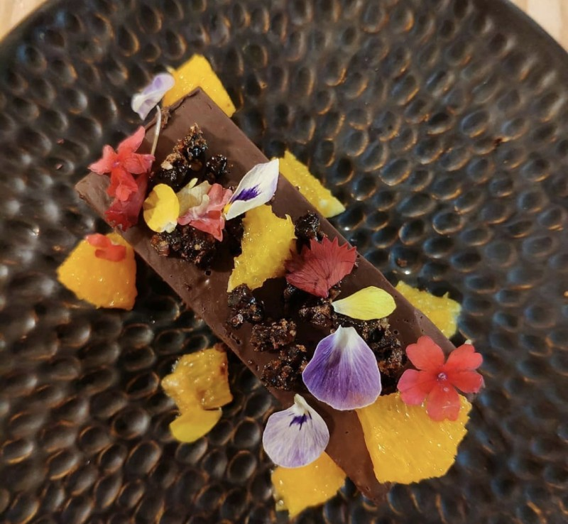 Receta Lingote de Dos Chocolates con Garrapiñada de Bacon Afuegolento