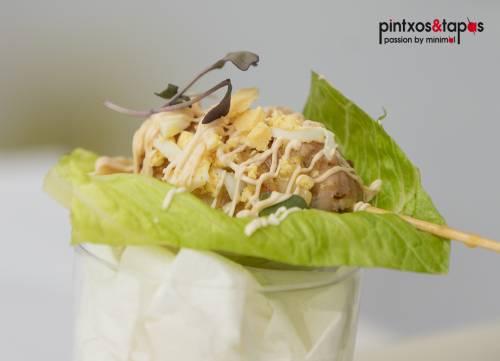 Kofta de pollo casi en pepitoria (tapa bares)