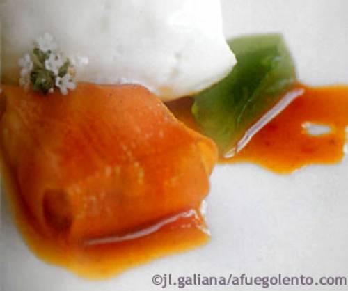 Menú de Nochebuena: caldo con falsa trufa, parmentier de bogavante, ravioli de zanahoria y mazapán | Navidad Recetas Menús