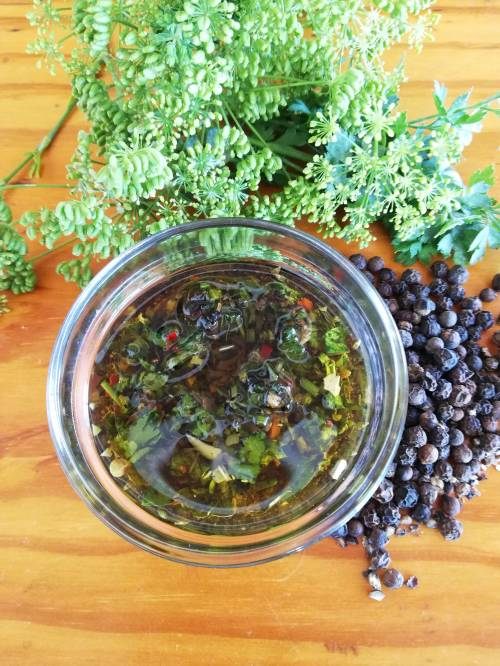 Salsa chimichurri es para el verano