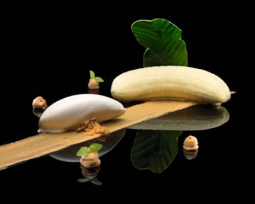 Plátano con Galletas | Postres | Frutas