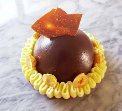 Petit Gateau de Chocolate y cítricos.