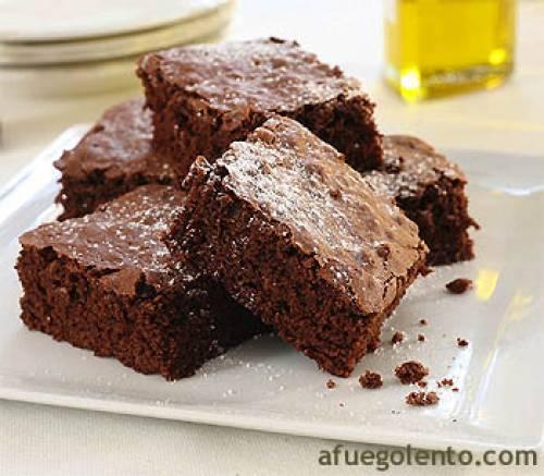 Brownies con aceite de oliva | Postres Pasteles, tartas y bizcochos Chocolate