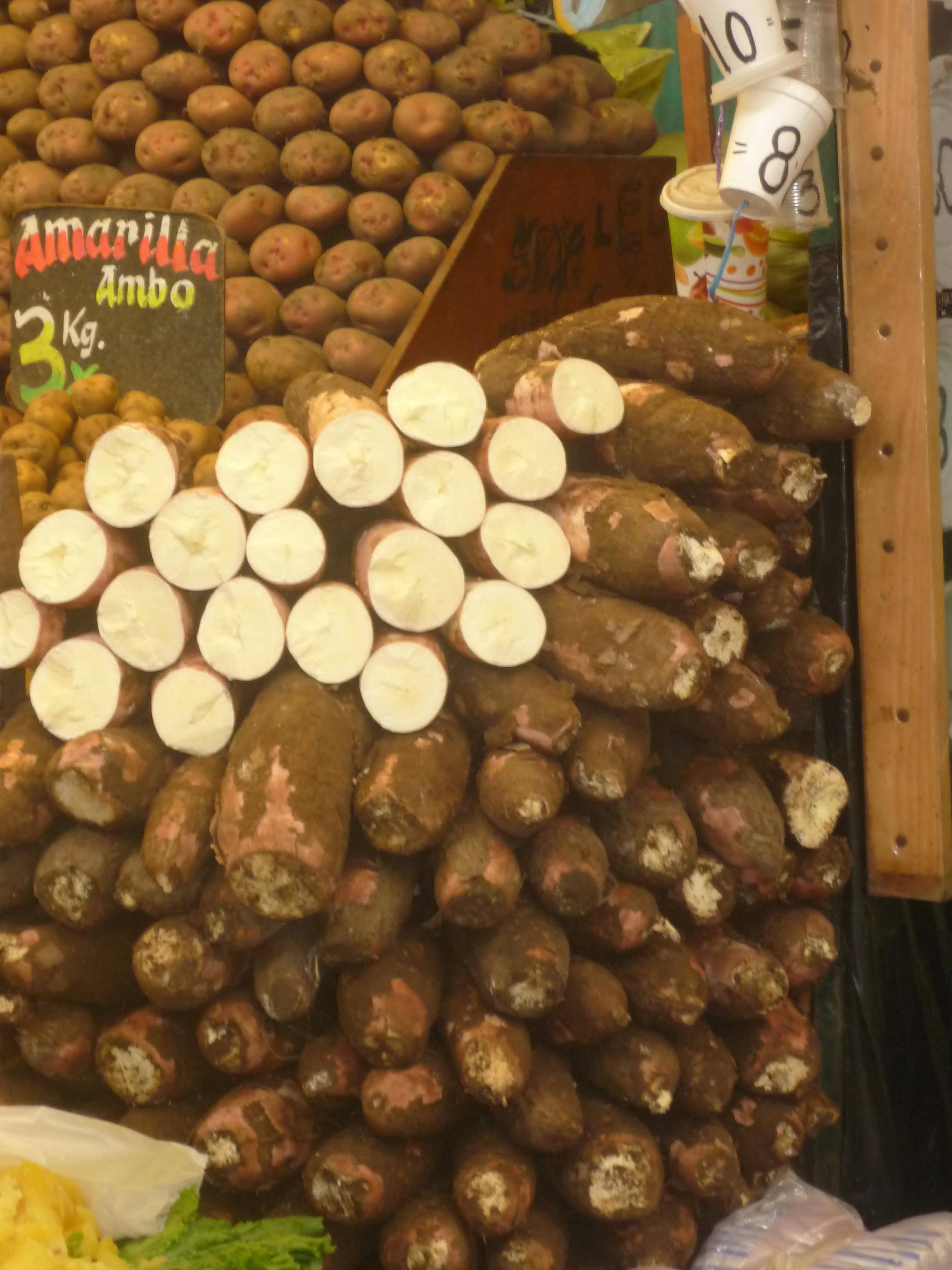 Yuca Blanca, Mercado de Pisco