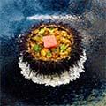 Receta arroz de ventresca de atún rojo y erizos Afuegolento