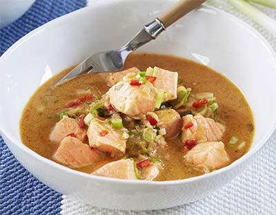 Receta Curry de Salmón Afuegolento