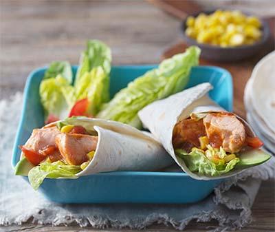Receta Tacos de Salmón Afuegolento