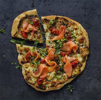 Receta Pizza Salmón Ahumado Afuegolento