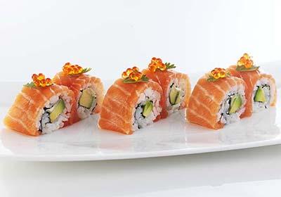 Receta Sushi Maki Salmón Afuegolento
