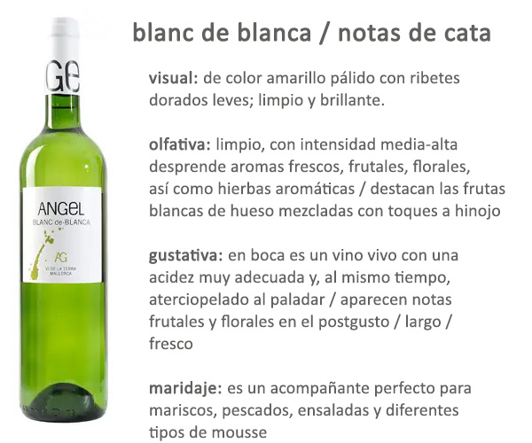 Blanc de Blanca Bodegas Angel Mallorca Afuegolento S