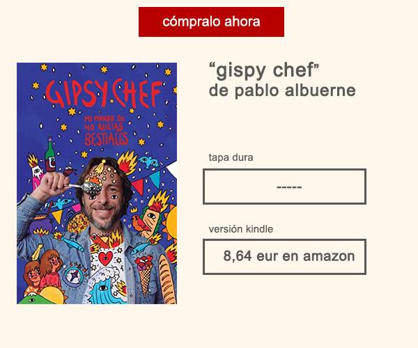 Libro Gispsy Chef Pablo Albuerne Afuegolento