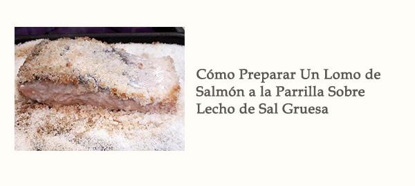 Enlace Tutorial Lomo Salmon Parrilla Sobre Lecho Sal Gruesa Afuegolento