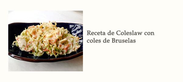 Receta de Coleslaw Coles Bruselas Afuegolento