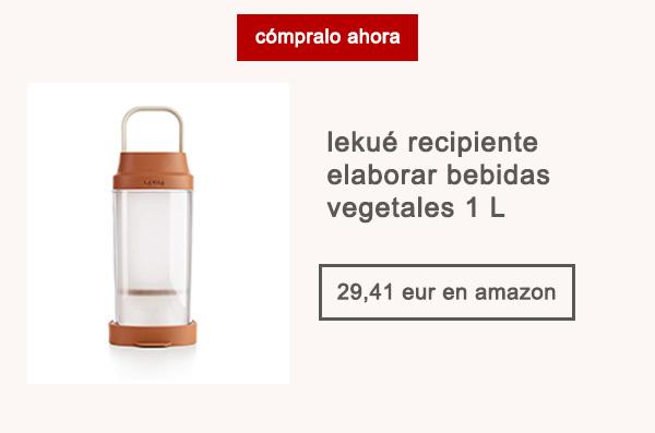 Lekué Recipiente Elaborar Bebidas Vegetales 1 L Afuegolento