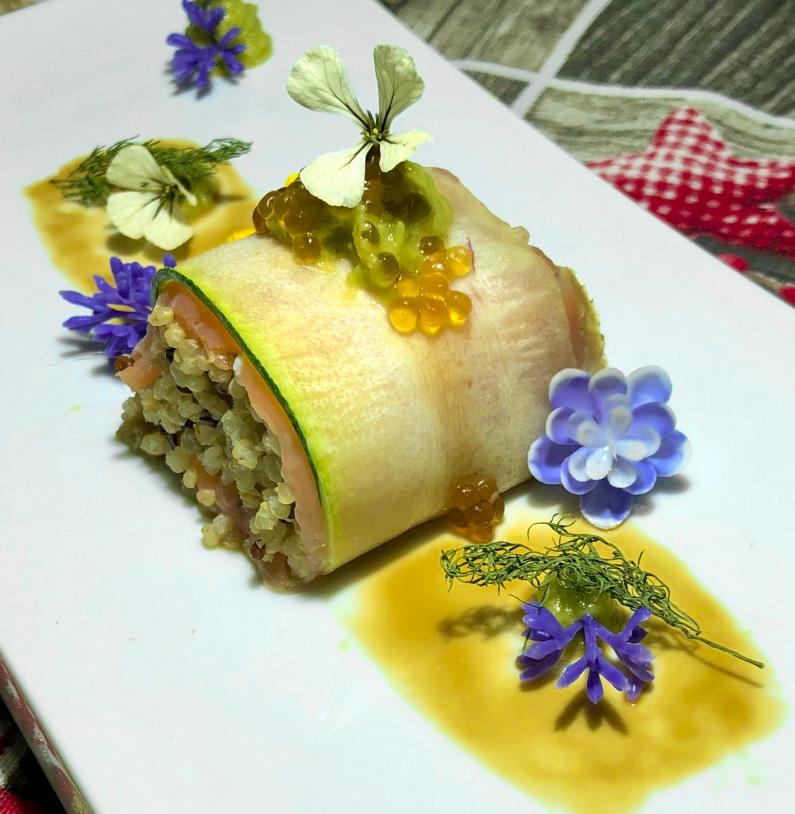 Receta Sushi Calabacín Quinoa Aguacate Raul Garcia Jimenez Afuegolento 2