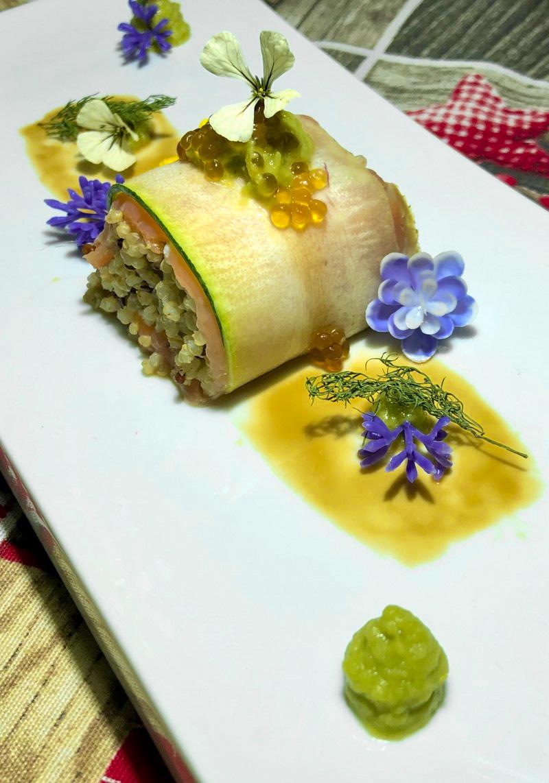 Receta Sushi Calabacín Quinoa Aguacate Raul Garcia Jimenez Afuegolento