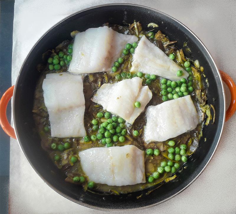 Receta Bacalao Alcachofas Afuegolento F