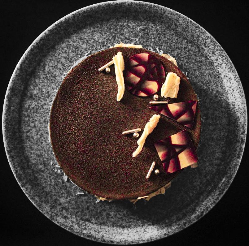 Receta Tarta Chocolate Coco Compota Cassis Vanusa Hazboun Afuegolento
