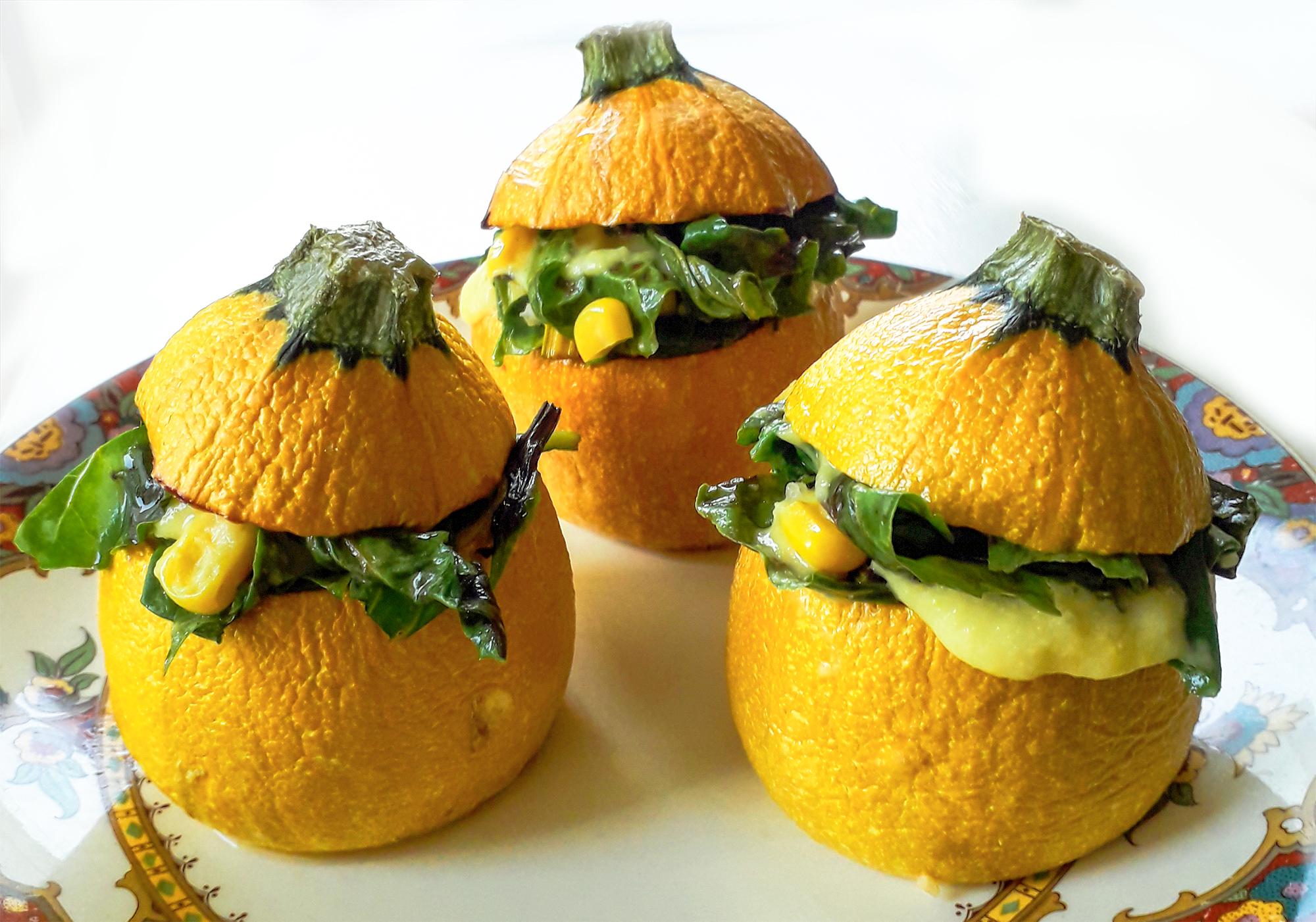 Receta Calabacines Amarillos Rellenos Espinacas Maiz Afuegolento 1