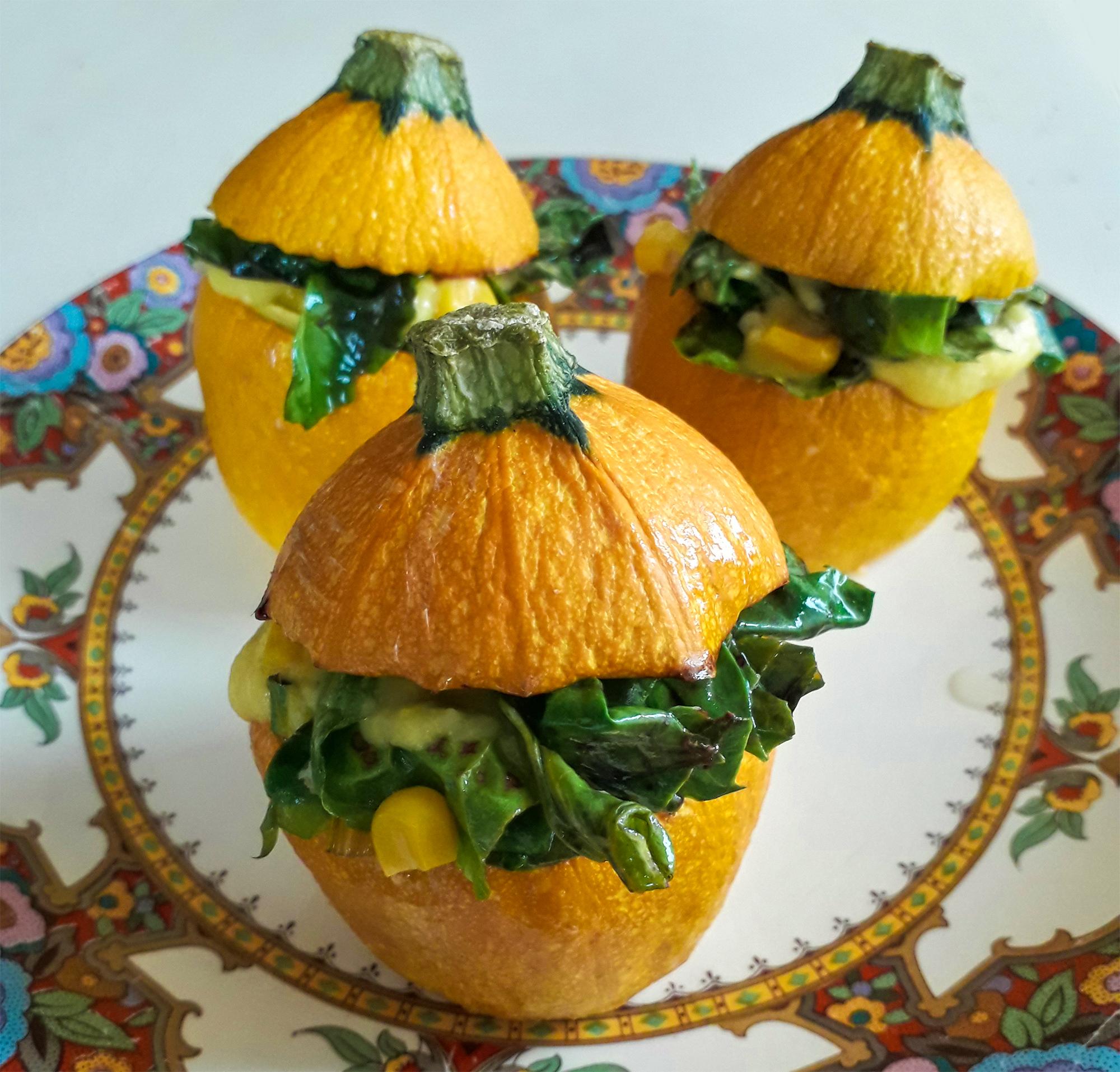 Receta Calabacines Amarillos Rellenos Espinacas Maiz Afuegolento 3