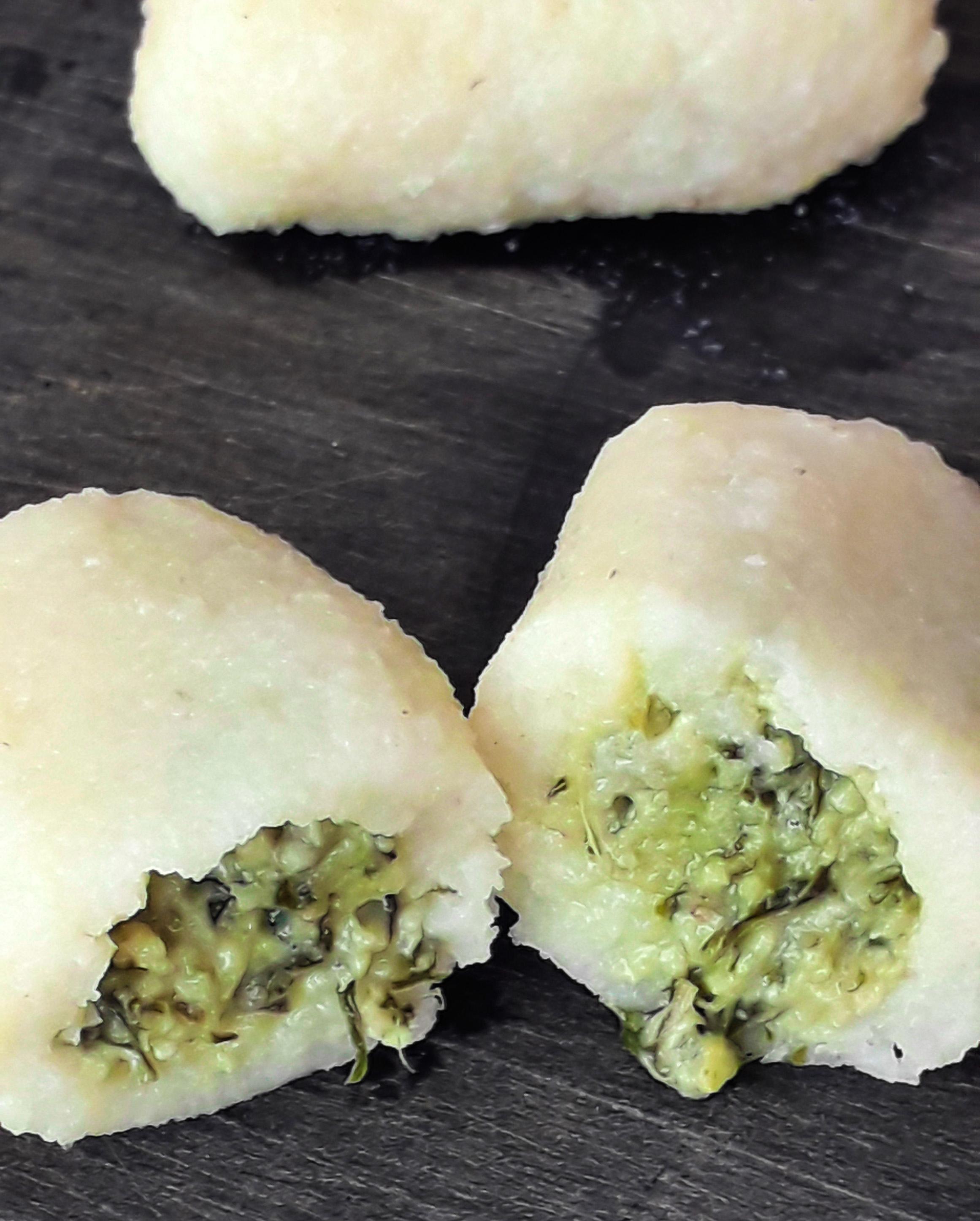 Receta Gnocchi Sin Gluten Rellenos de Pesto Vegano Afuegolento 2