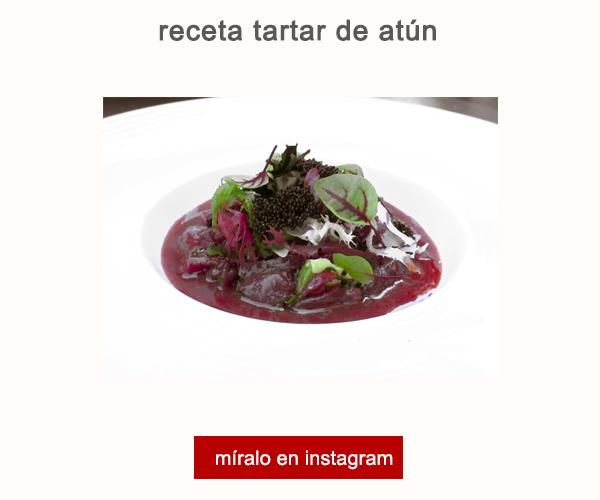 Receta Tartar de Atún German de Bernardi Hotel Can Alomar Afuegolento V