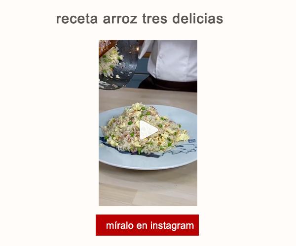 Receta Arroz Tres Delicias Ye Sheqian Afuegolento V
