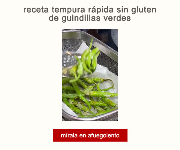 Receta Tempura Rapida Sin Gluten Guindillas Verdes Afuegolento