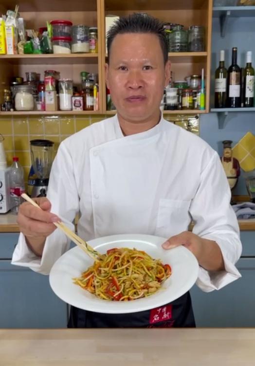 Receta Tallarines Chinos Pollo Verduras Ye Sheqian Afuegolento 5