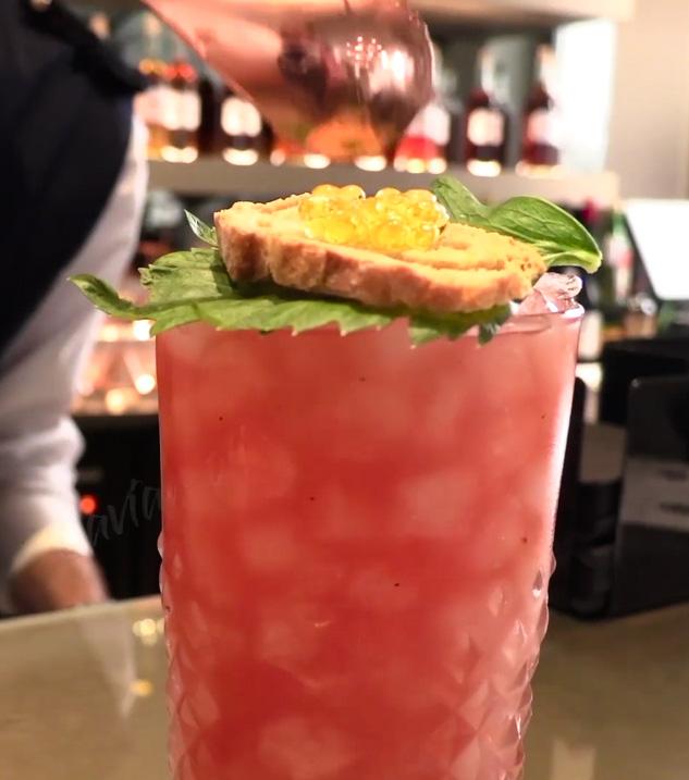 Receta Bloody Mary Caviar Aceite Oliva Tosta Hotel Sant Jaume Afuegolento
