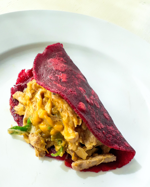 Receta Tacos Remolacha Sin Gluten Relenos Tinga Pollo Afuegolento 1