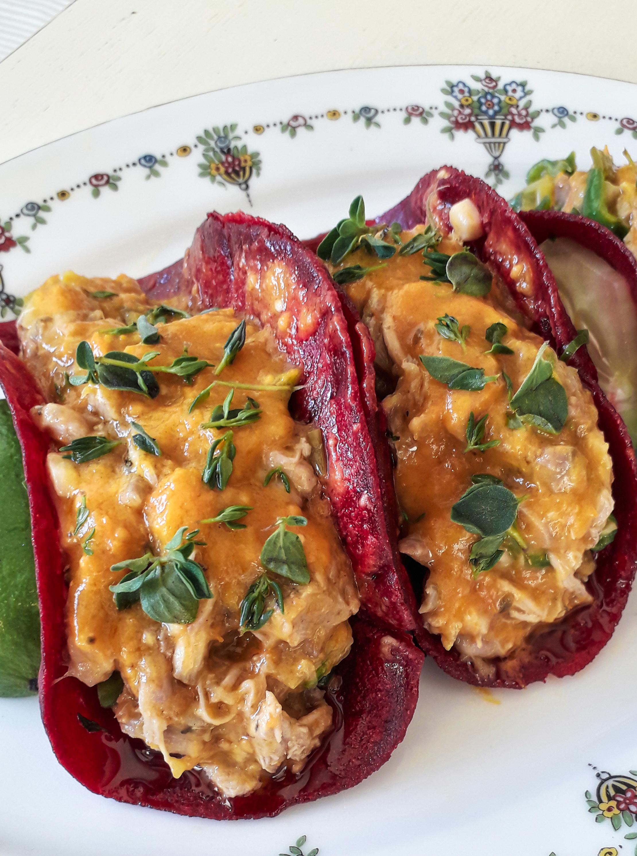 Receta Tacos Remolacha Sin Gluten Relenos Tinga Pollo Afuegolento 6